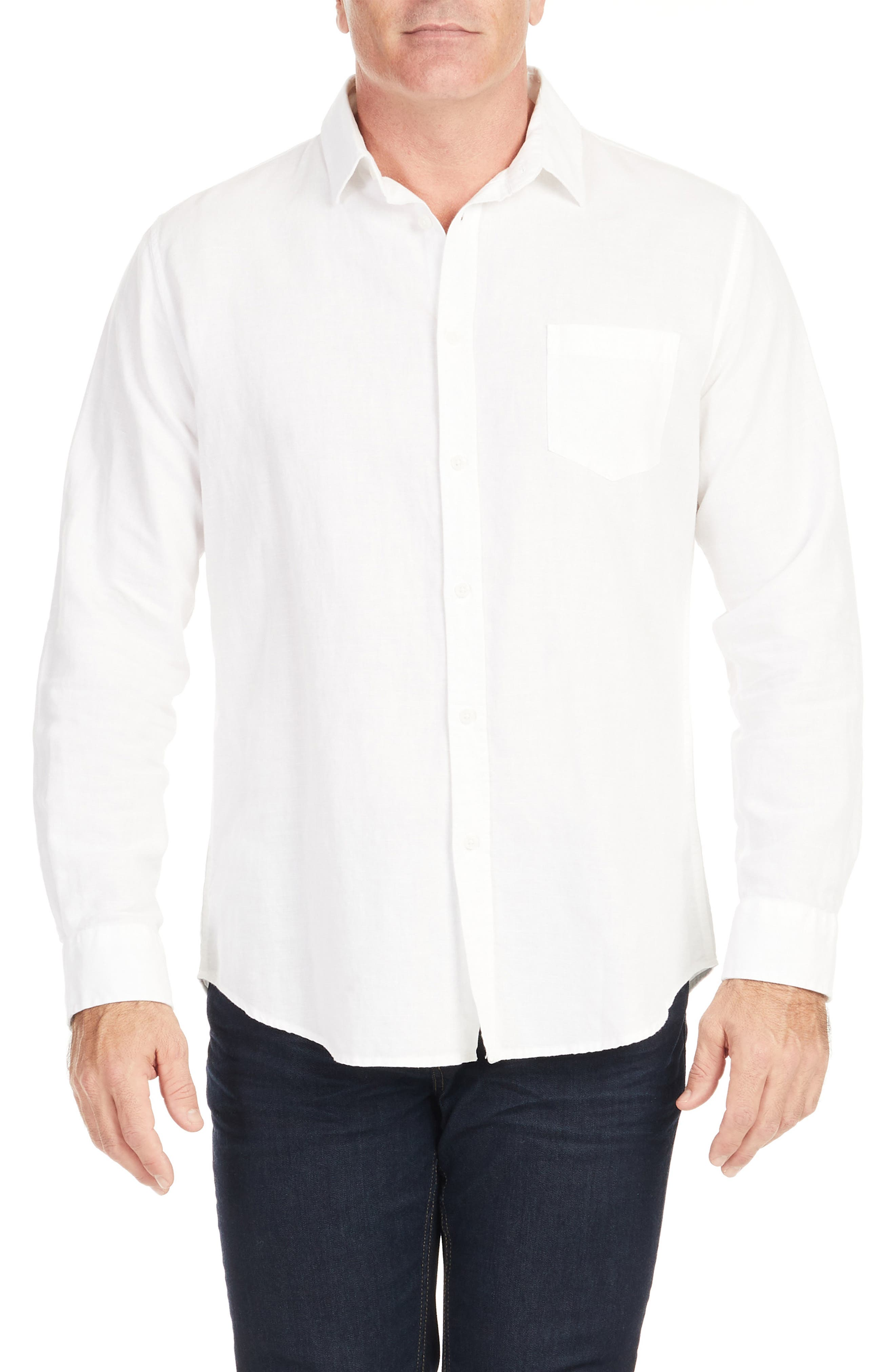 Anders Relaxed Fit Button-Up Linen & Cotton Shirt