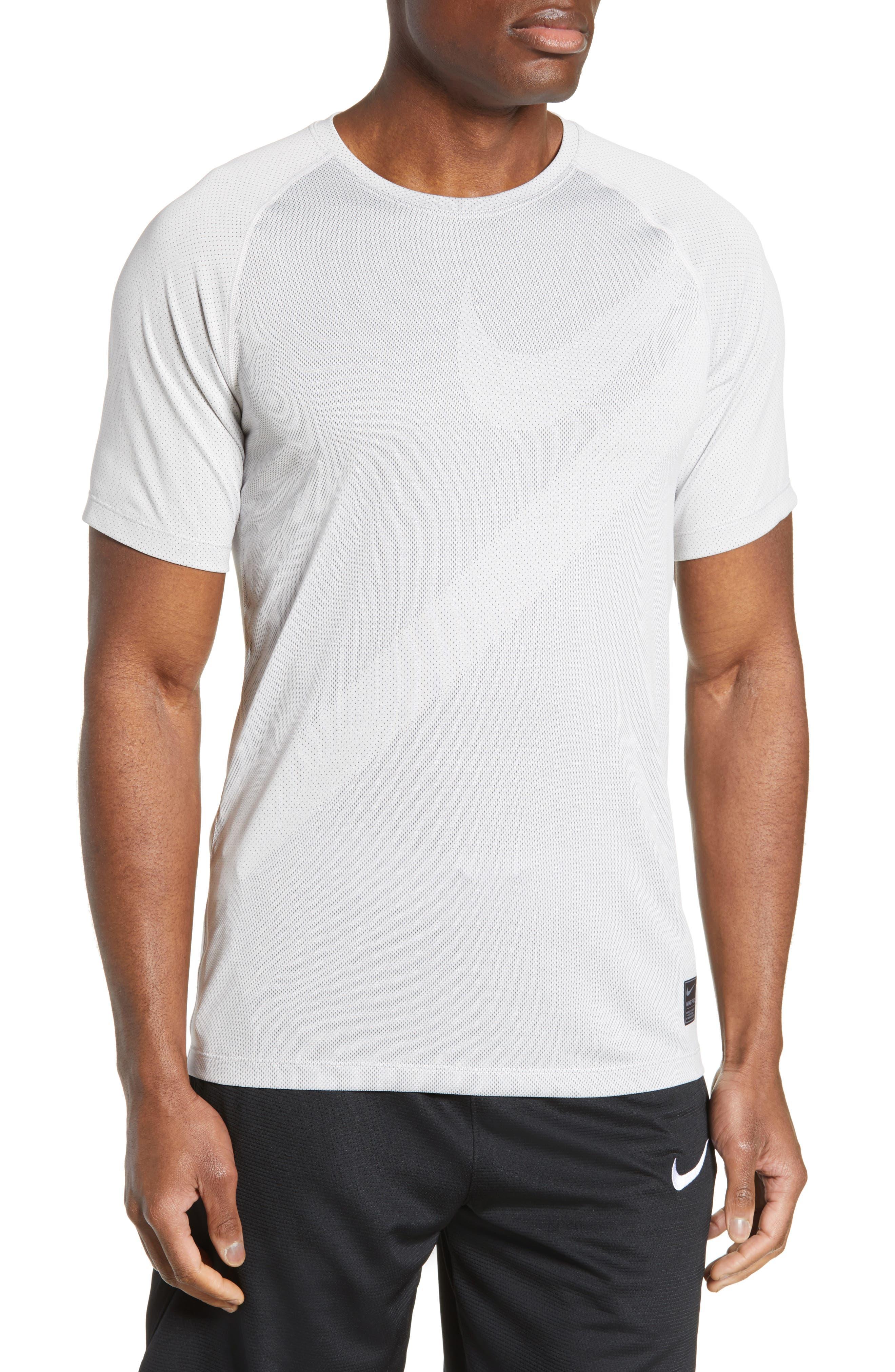 Pro Dri-FIT Perforated T-Shirt, Main, color, VAST GREY/ GUNSMOKE/ VAST GREY