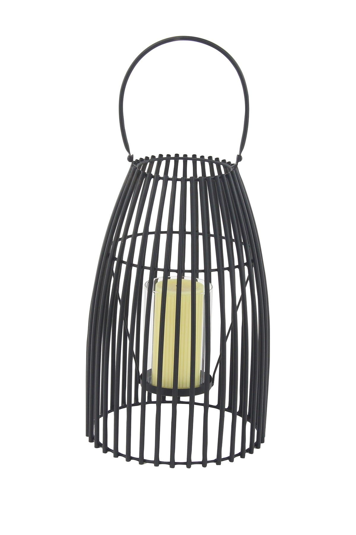 Willow Row 16 Modern Iron And Glass Decorative Caged Black Lantern Nordstrom Rack