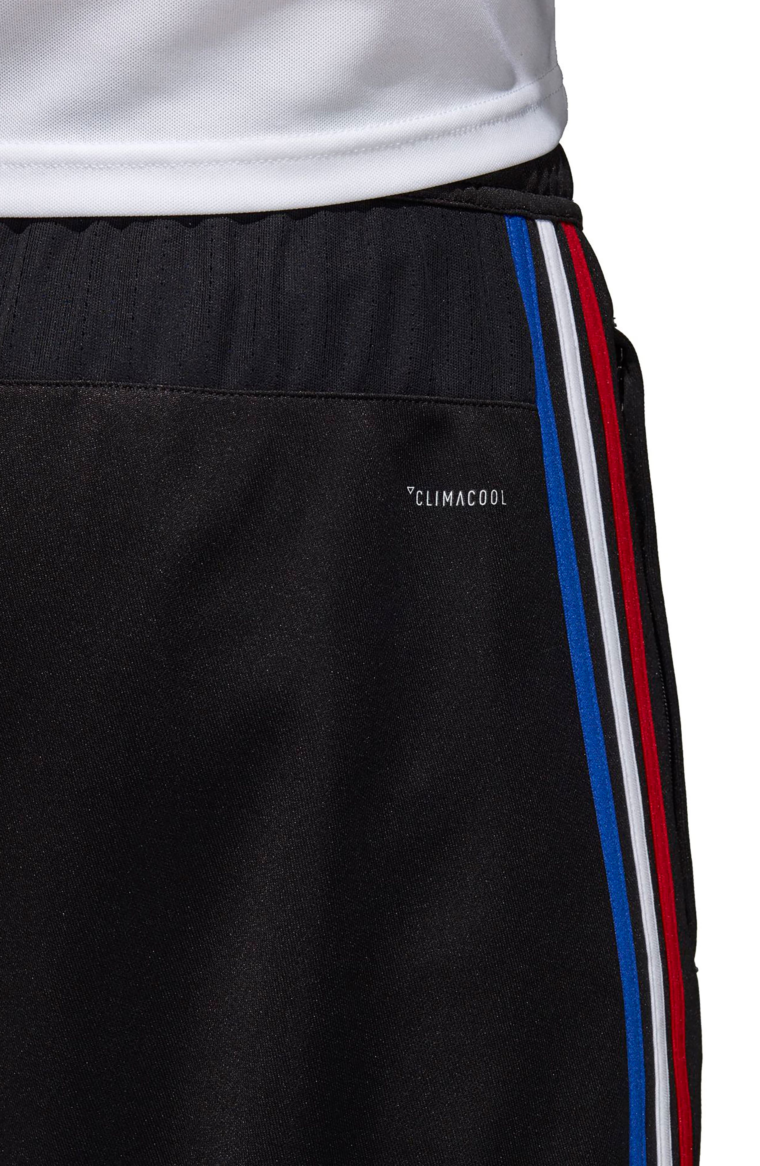 ,                             Tiro 17 Regular Fit Training Pants,                             Alternate thumbnail 6, color,                             BLACK/ RED/ WHITE/ BLUE