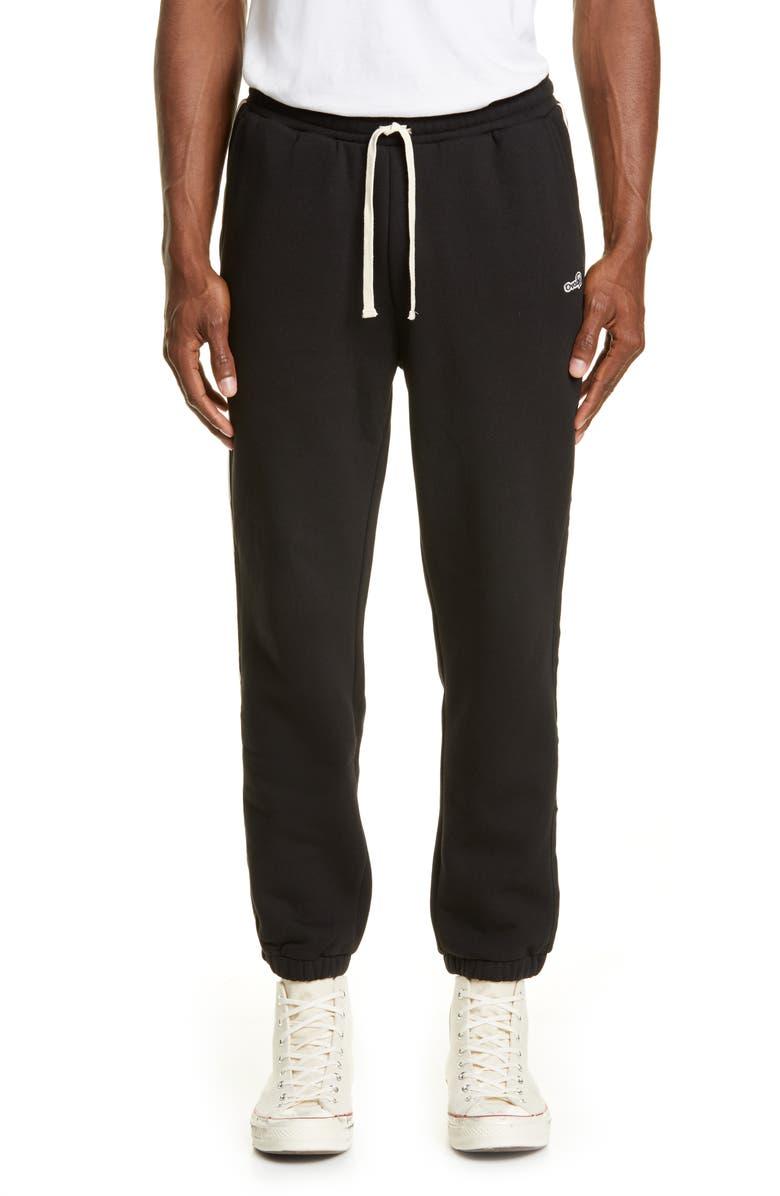 OVADIA & SONS Varsity Lounge Pants, Main, color, BLACK/ CREAM
