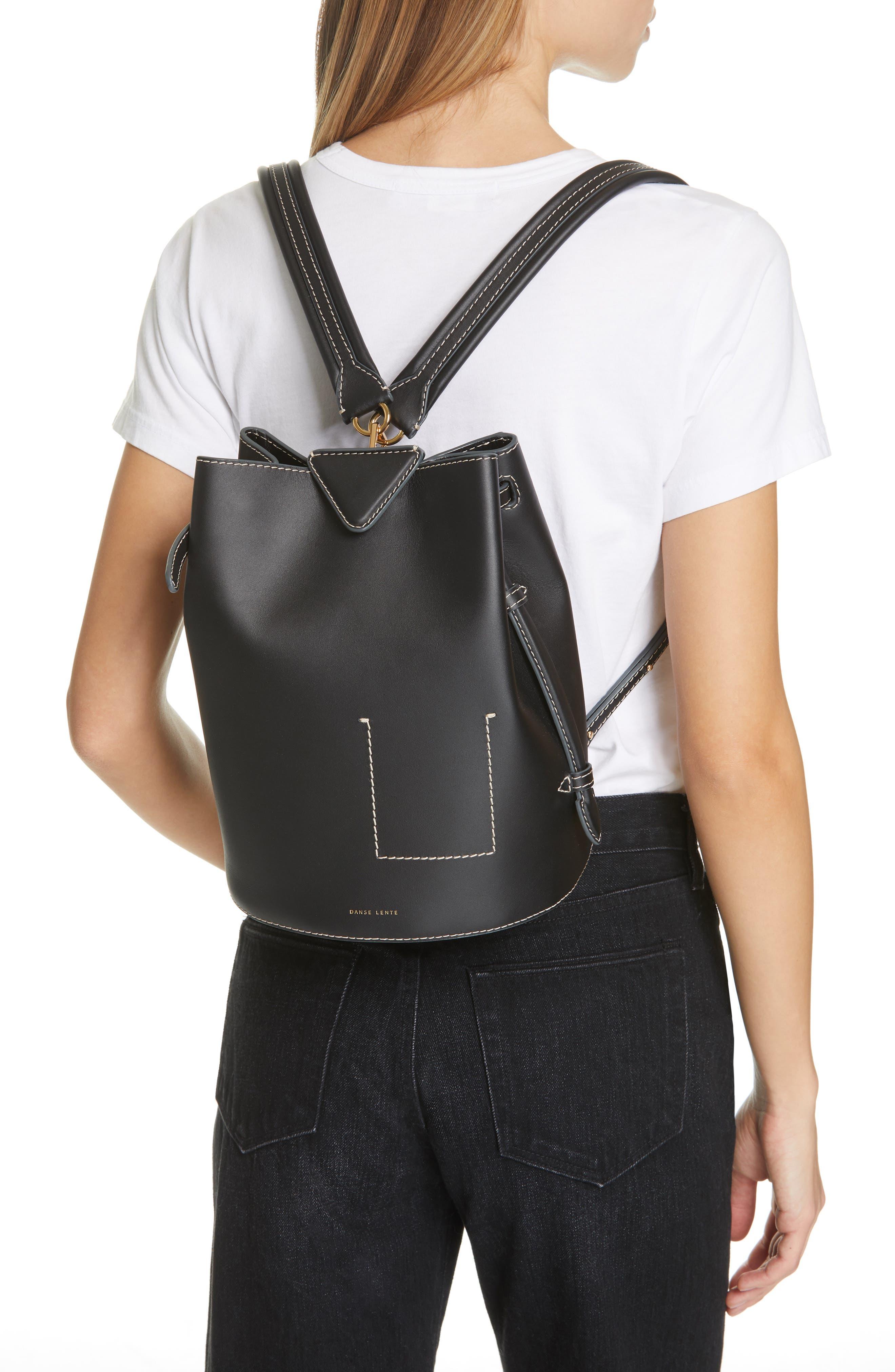 ,                             Jamie Leather Backpack,                             Alternate thumbnail 2, color,                             BLACK