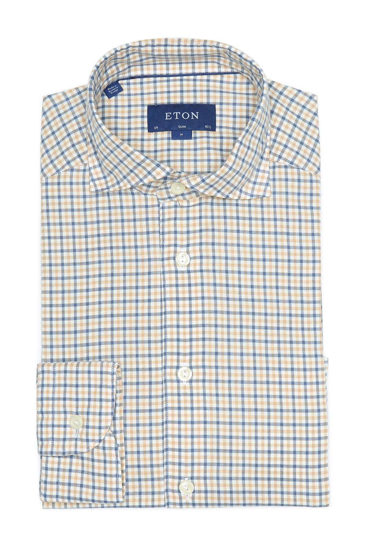 Image of Eton Slim Fit Checker Shirt