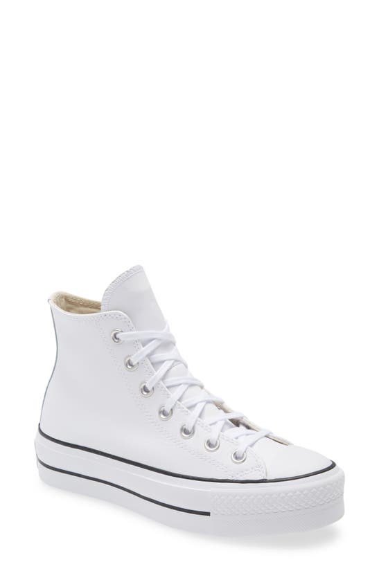 Converse CHUCK TAYLOR ALL STAR LEATHER HIGH TOP PLATFORM SNEAKER