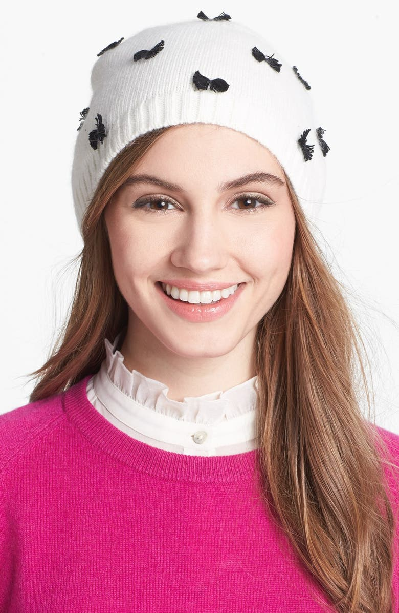 KATE SPADE NEW YORK 'bow' hat, Main, color, 001