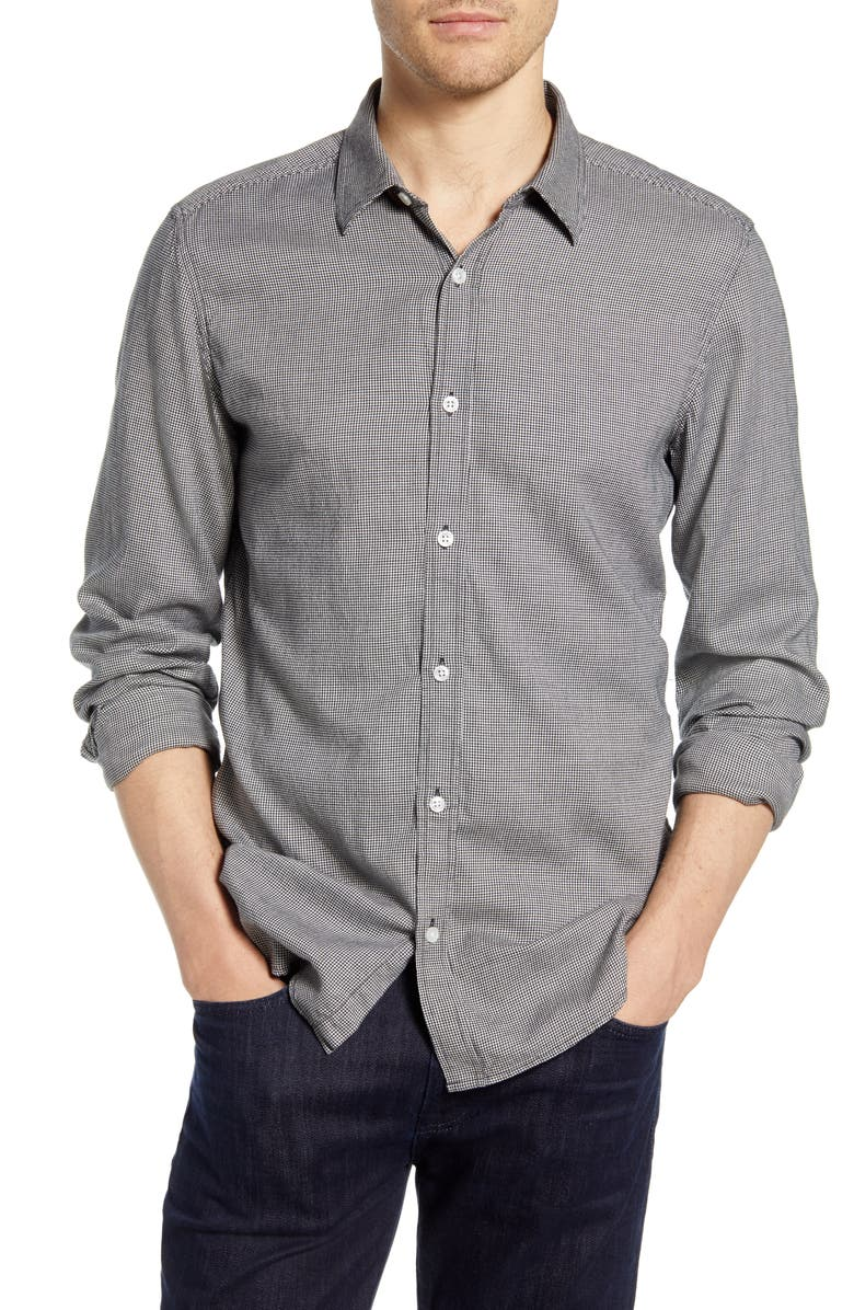 7 FOR ALL MANKIND<SUP>®</SUP> Slim Fit Houndstooth Button-Up Shirt, Main, color, HOUNDSTOOTH