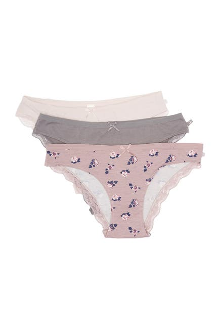 Image of Jessica Simpson Tossed Peonies Panties - Pack of 3