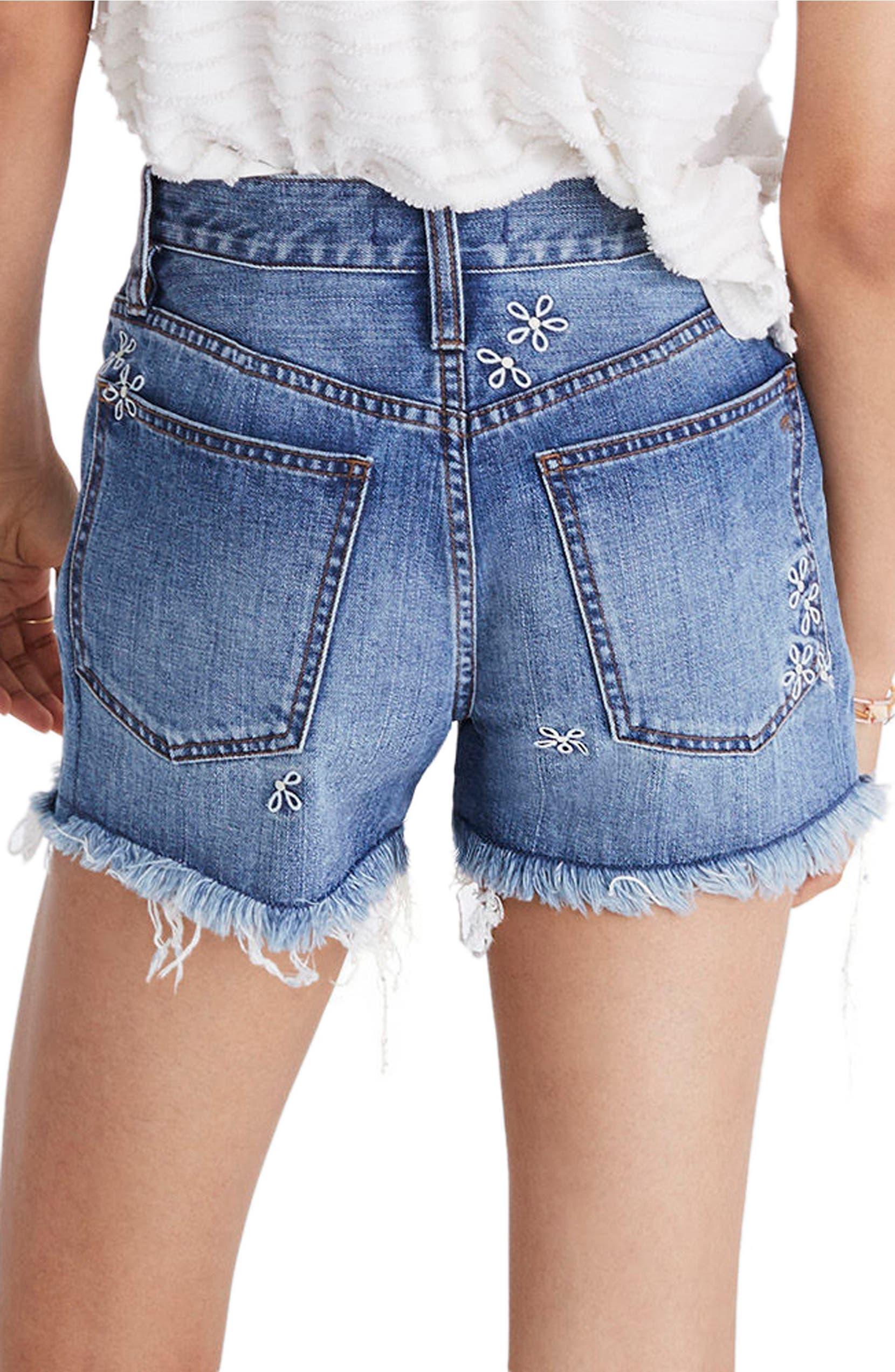 bf736de98a65 Madewell Perfect Daisy Embroidered High Waist Denim Shorts (Aberdeen Wash)  | Nordstrom