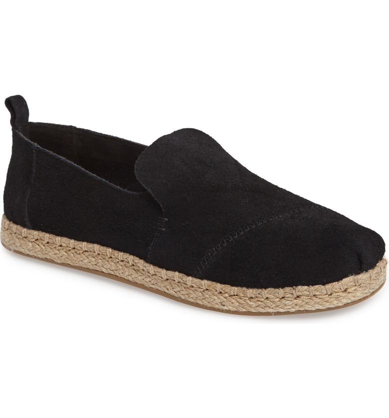 TOMS Classic Espadrille Slip-On, Main, color, BLACK