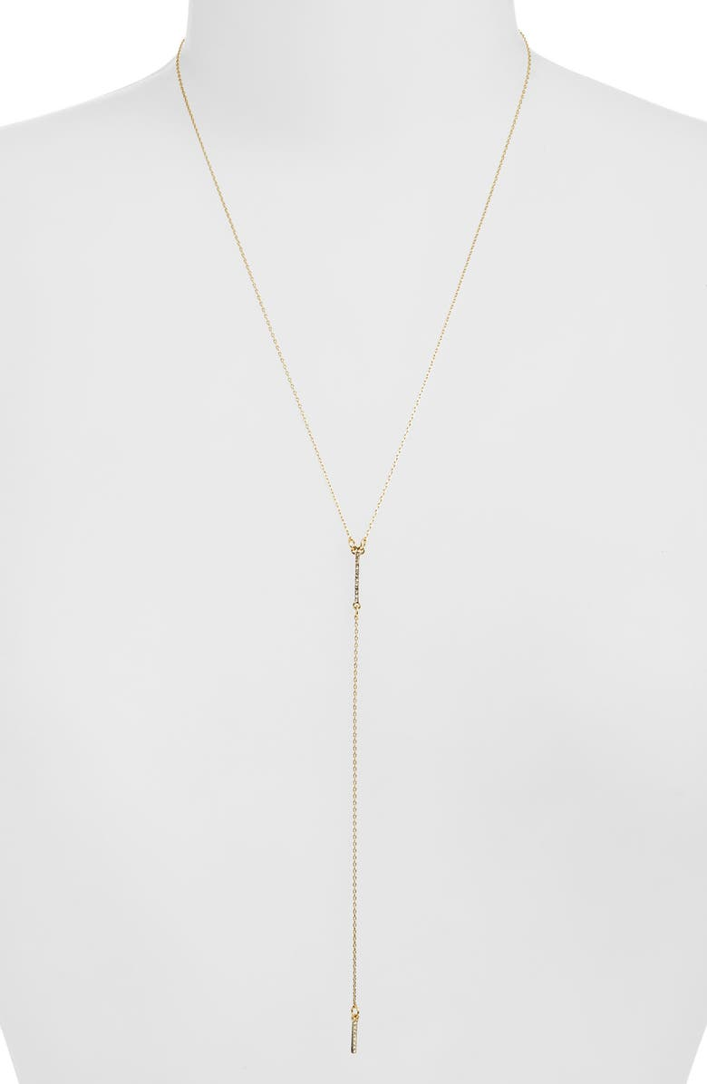UNCOMMON JAMES BY KRISTIN CAVALLARI Skinny Dip Y Necklace, Main, color, GOLD