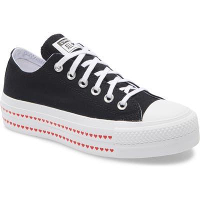 Converse Chuck Taylor All Star Love Fearlessly Platform Sneaker, Black