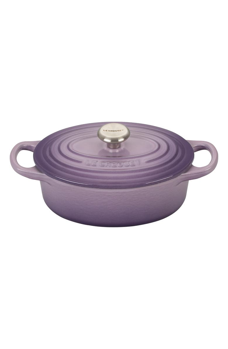 LE CREUSET Signature 1-Quart Enameled Cast Iron Oval French/Dutch Oven, Main, color, PROVENCE