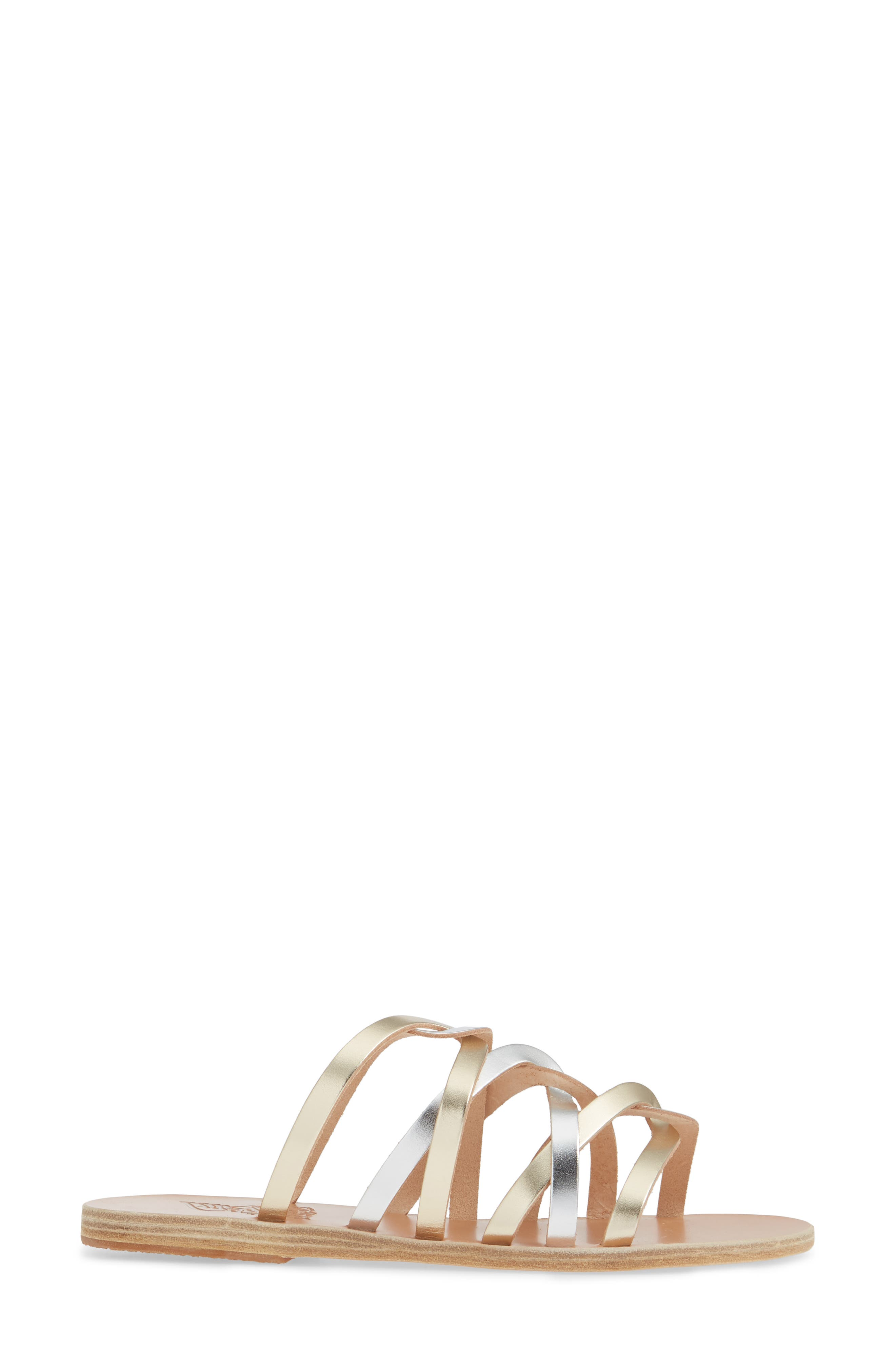 ,                             Donousa Slide Sandal,                             Alternate thumbnail 4, color,                             SILVER/ PLATINUM