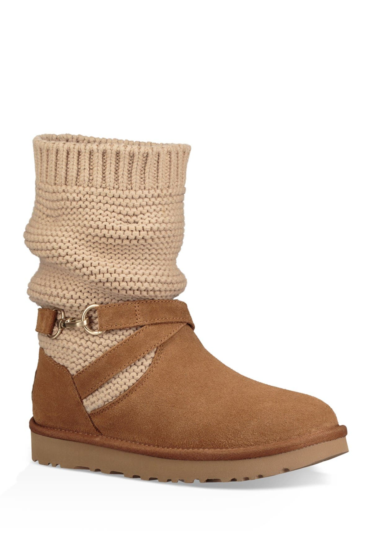Image of UGG Purl Knit Suede Boot