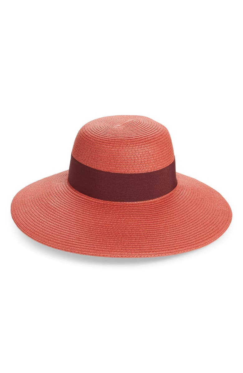 NORDSTROM Floppy Hat, Main, color, RUST KHAYA COMBO