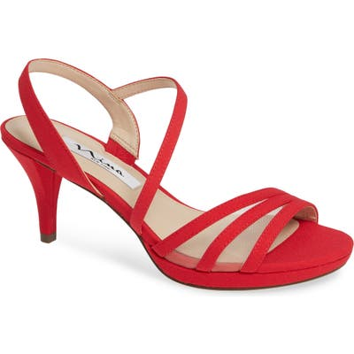 Nina Nazima Mesh Sandal, Red