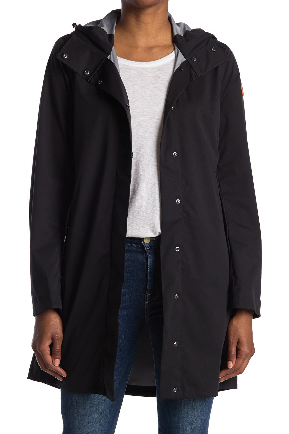 Image of Save The Duck Hooded Rain Jacket