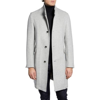 Nordstrom Signature Camden Wool Blend Overcoat, 8R - Grey