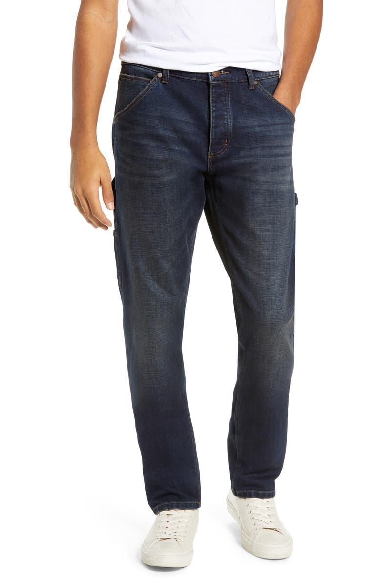 WRANGLER Carpenter Straight Leg Jeans, Main, color, 472