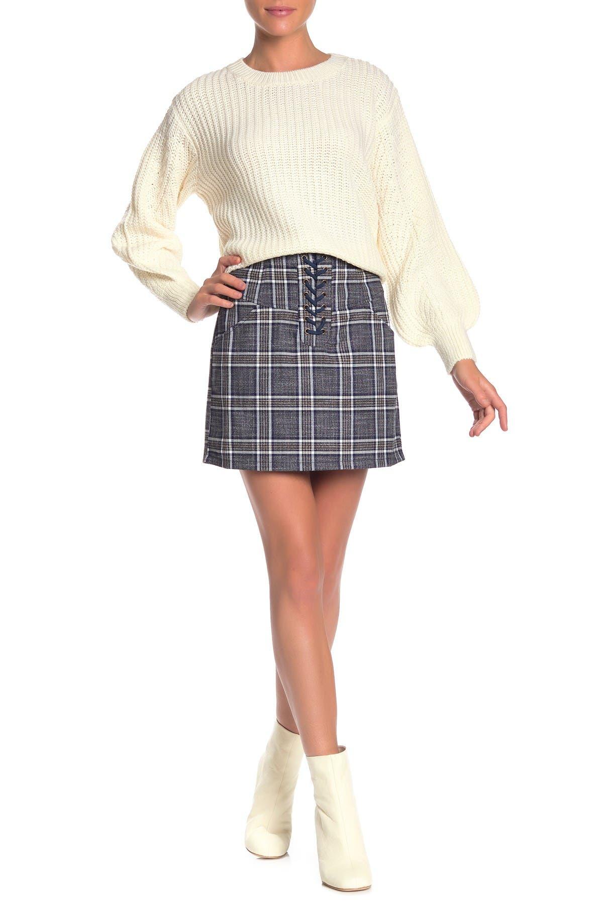 Image of Heartloom Jae Plaid Mini Skirt
