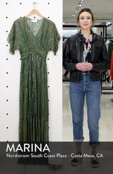 Wanda Metallic Accent Maxi Dress, sales video thumbnail