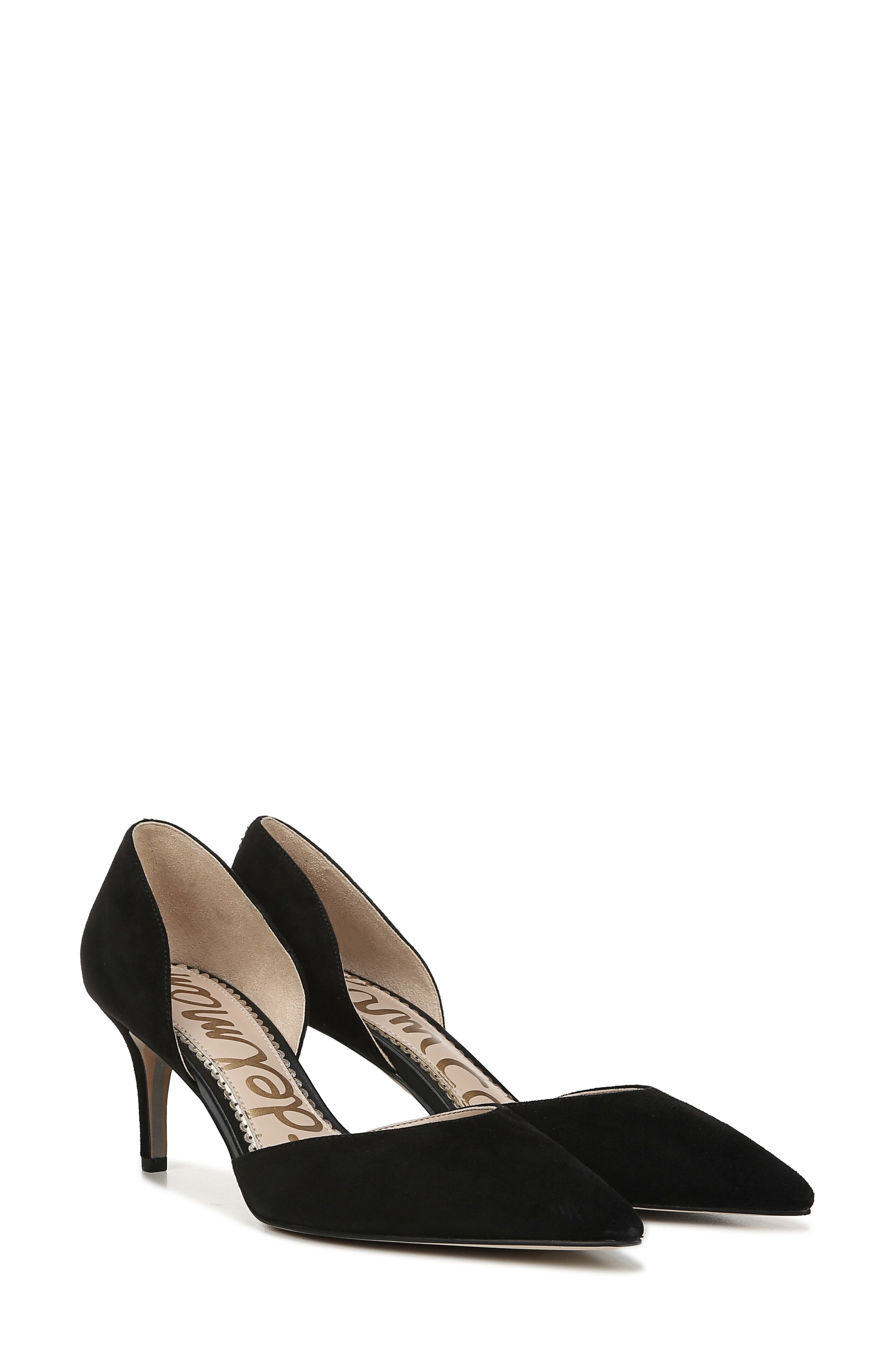 ,                             Jaina Pump,                             Alternate thumbnail 8, color,                             BLACK SUEDE LEATHER