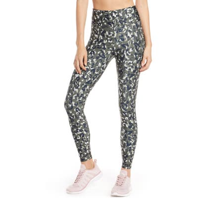 Soul By Soulcycle High Waist Leopard Camo Leggings, Green
