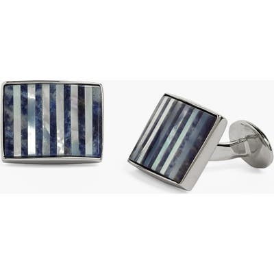 David Donahue Mother-Of-Pearl & Sodalite Cuff Links