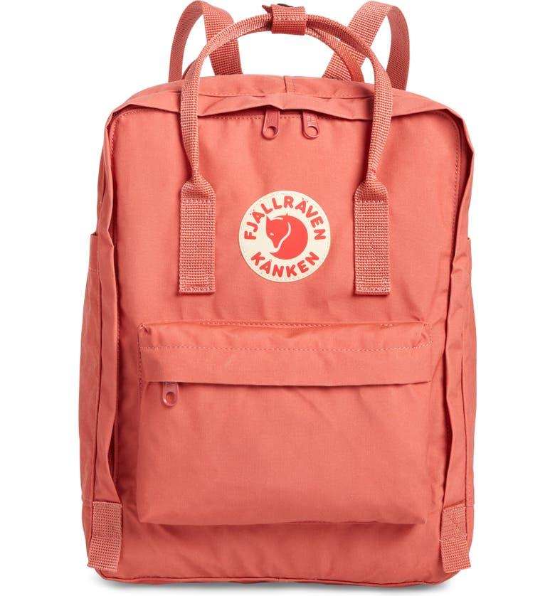 FJÄLLRÄVEN Kånken Water Resistant Backpack, Main, color, DAHLIA