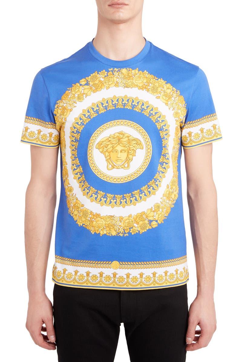 VERSACE Barocco Print T-Shirt, Main, color, 428