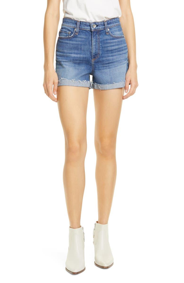 RAG & BONE Nina High Waist Denim Cutoff Shorts, Main, color, BALBOA
