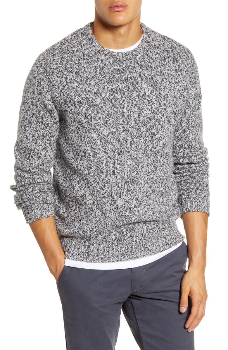 1901 Textured Crew Sweater, Main, color, GREY OIL MULTI