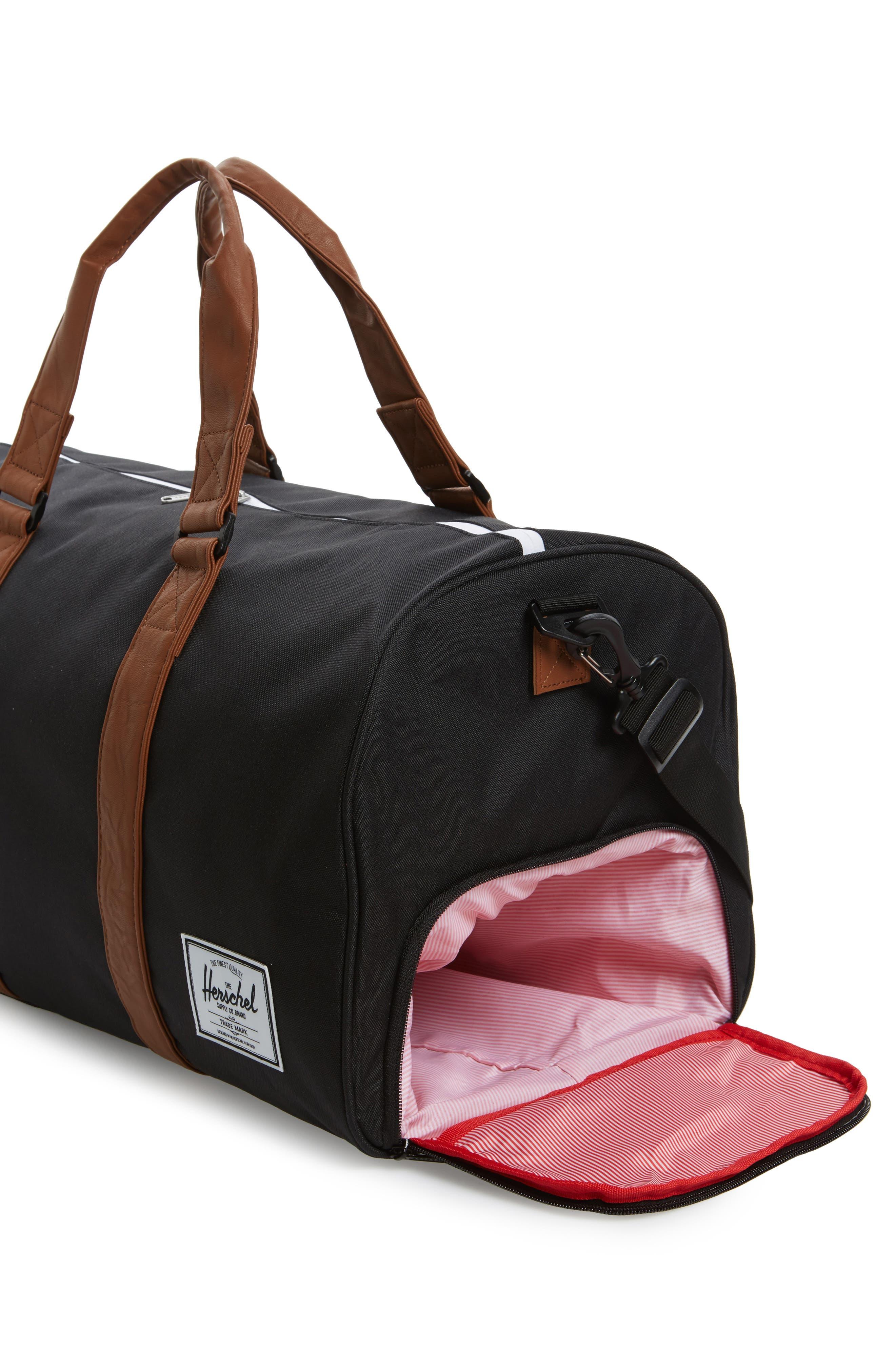 ,                             Novel Duffle Bag,                             Alternate thumbnail 6, color,                             BLACK/ TAN