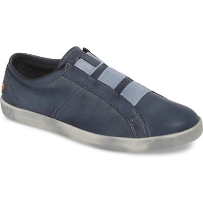 Softinos By Fly London Tip Laceless Sneaker, Blue