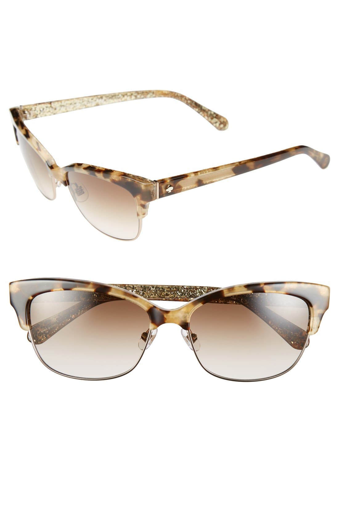 Image of kate spade new york shiras 55mm metal retro