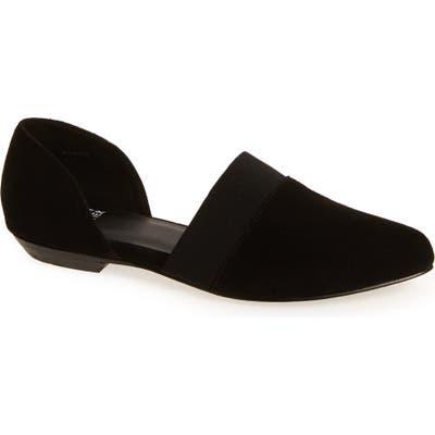 Eileen Fisher Flute Pointy Toe Flat- Black