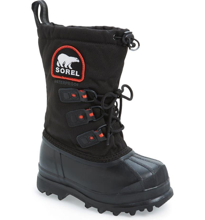SOREL 'Glacier II' Waterproof Snow Boot, Main, color, BLACK