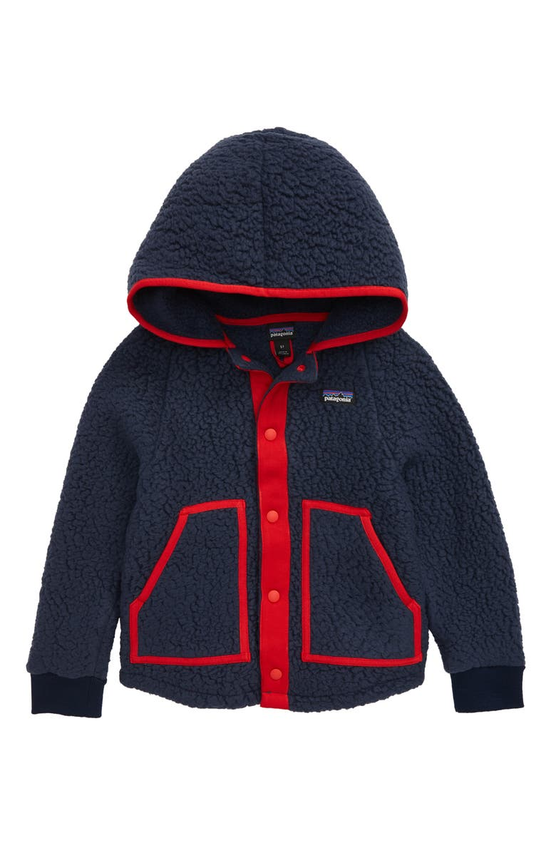 PATAGONIA Retro Pile Hooded Jacket, Main, color, NEW NAVY