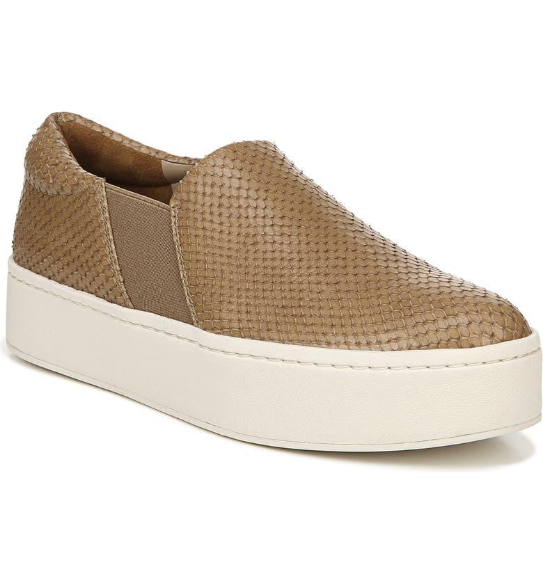 VINCE Warren Slip-On Sneaker, Main, color, TAN