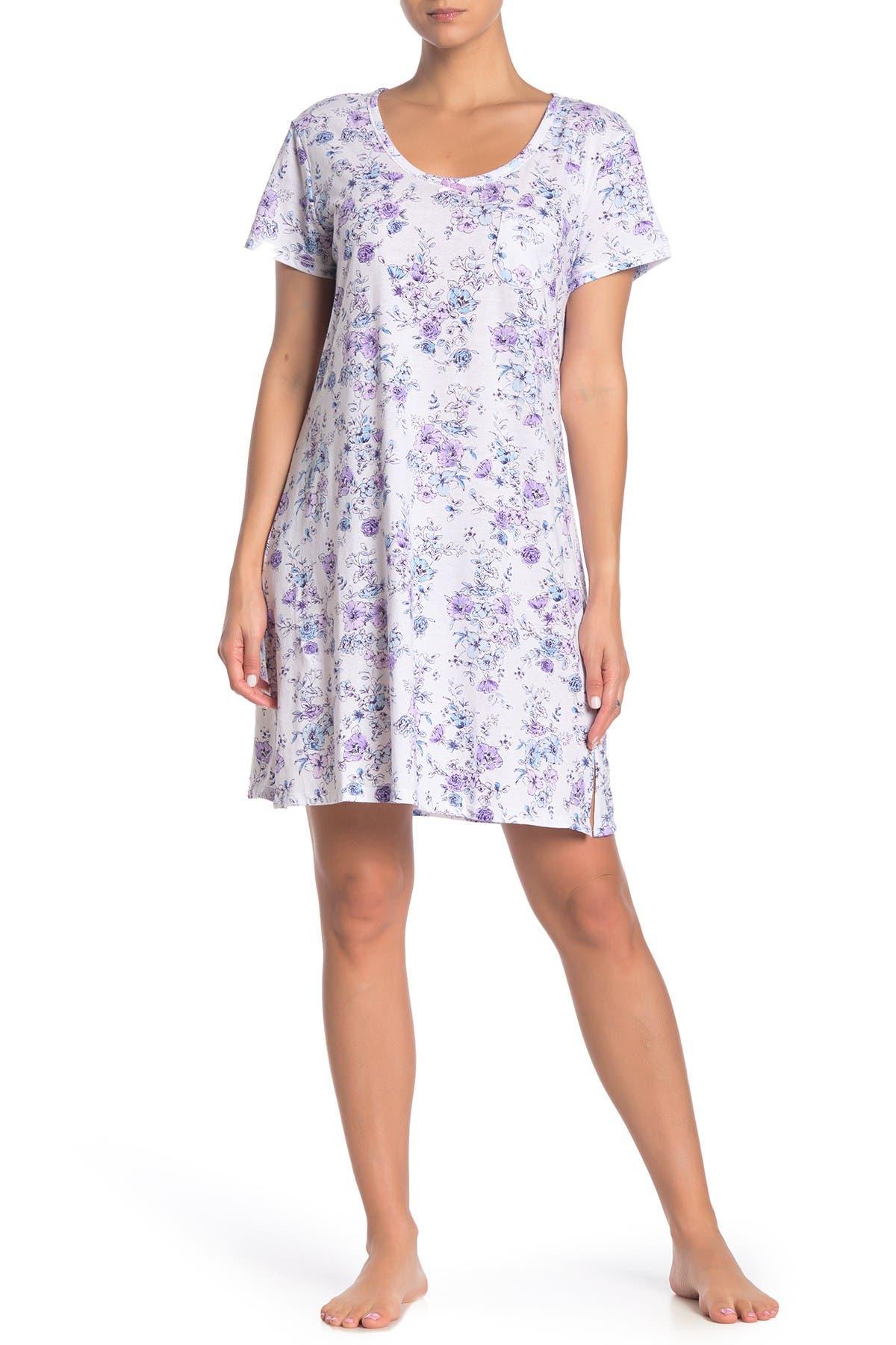 Carole Hochman Short Sleeve Pocket Nightgown