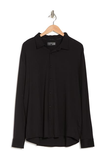 Image of Calvin Klein Long Sleeve Button Front Shirt