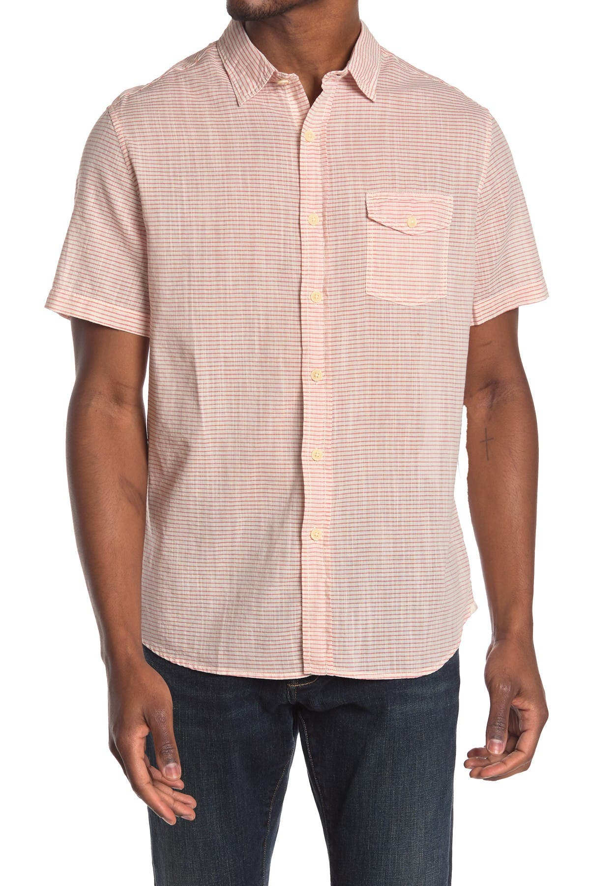 Image of Grayers Fairfield Horizontal Stripe Trim Fit Shirt