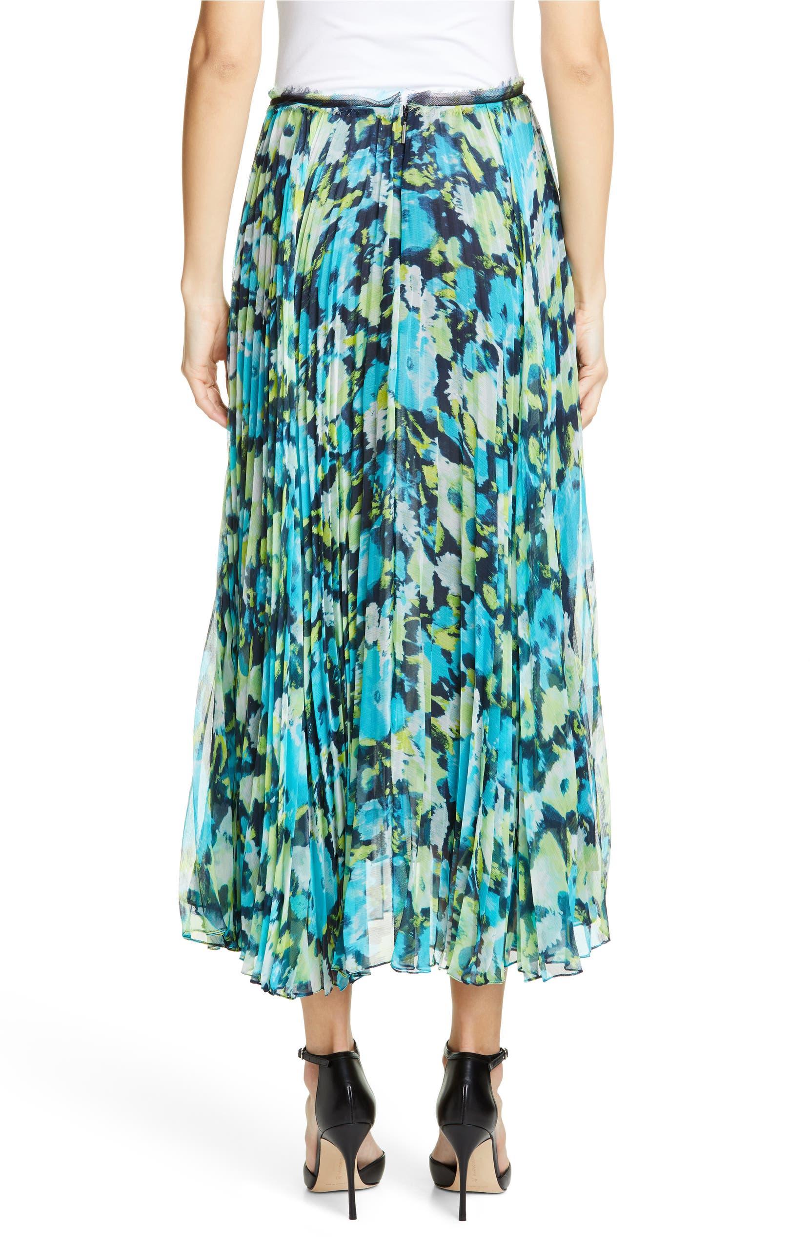 da6f7abb5 Jason Wu Collection Floral Print Pleated Chiffon Skirt | Nordstrom