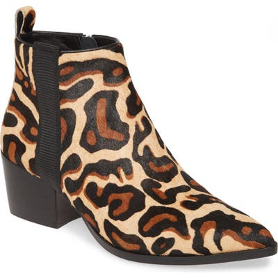Linea Paolo Sevilla Ii Genuine Calf Hair Bootie- Brown