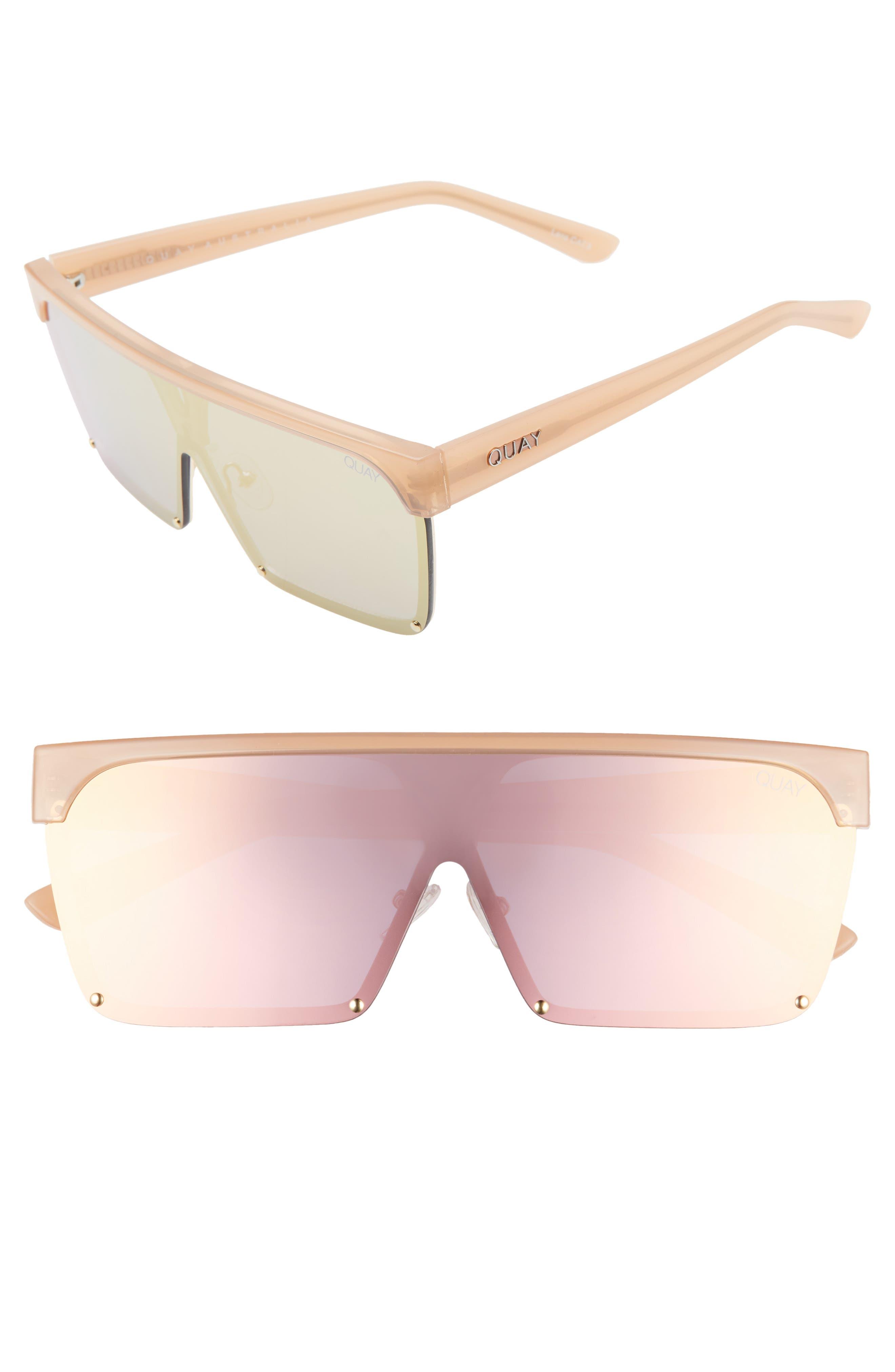 Quay Australia Shade Queen 5m Shield Sunglasses - Peach/ Peach