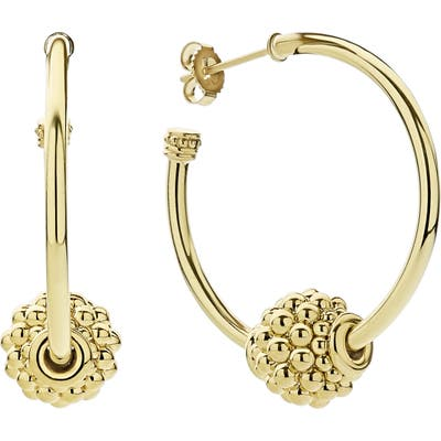 Lagos Caviar Gold Small Hoop Earrings