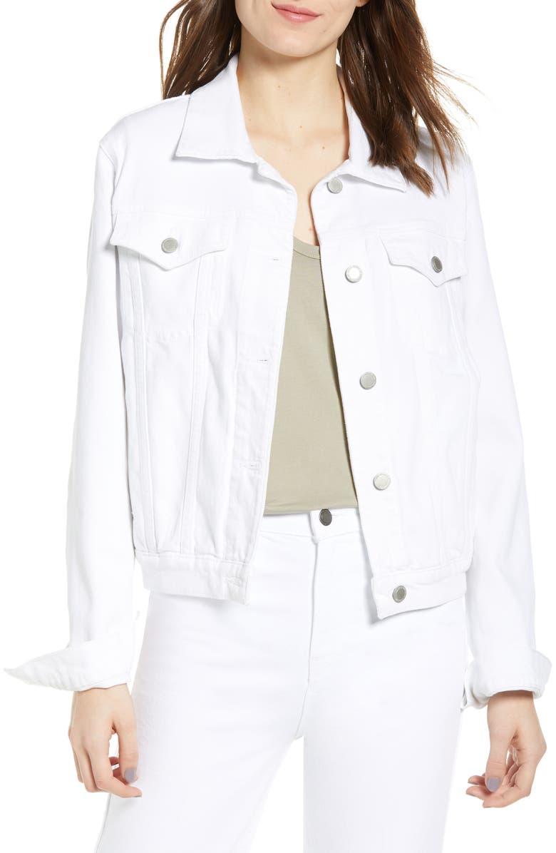 HUDSON JEANS Classic Denim Jacket, Main, color, 120