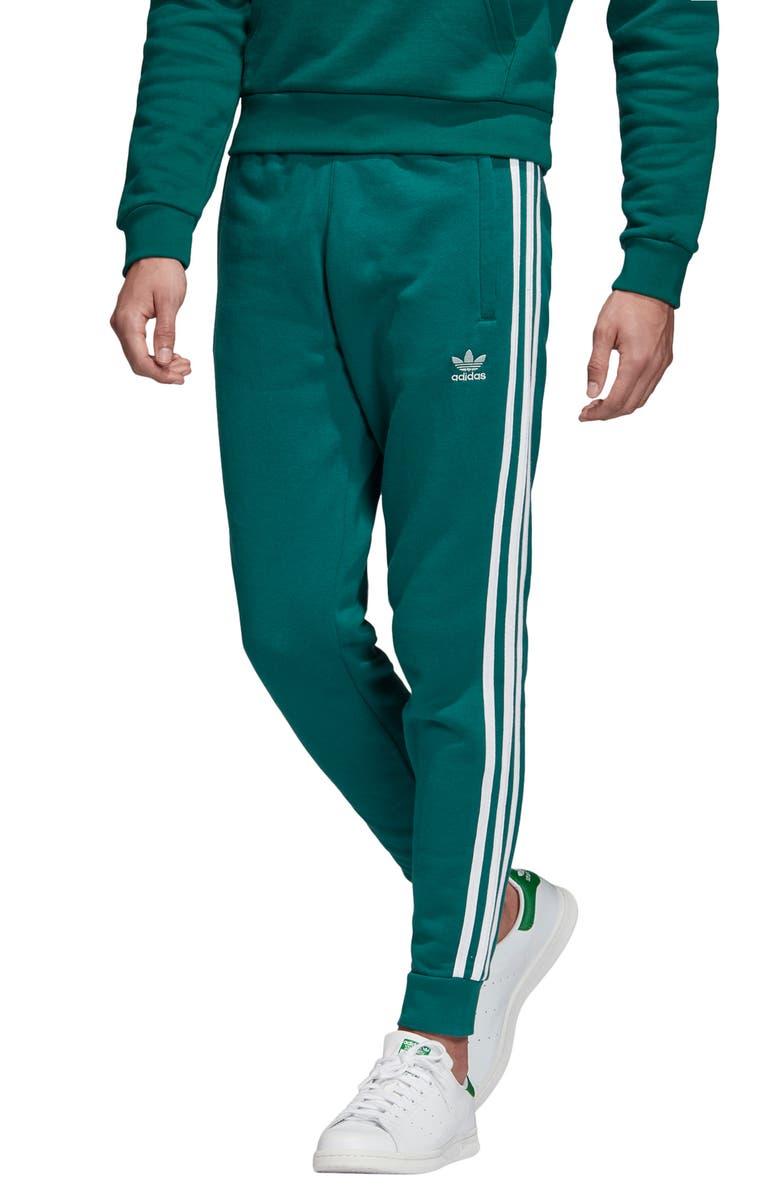 ADIDAS ORIGINALS 3-Stripes Sweatpants, Main, color, NOBLE GREEN/ VAPOUR GREEN