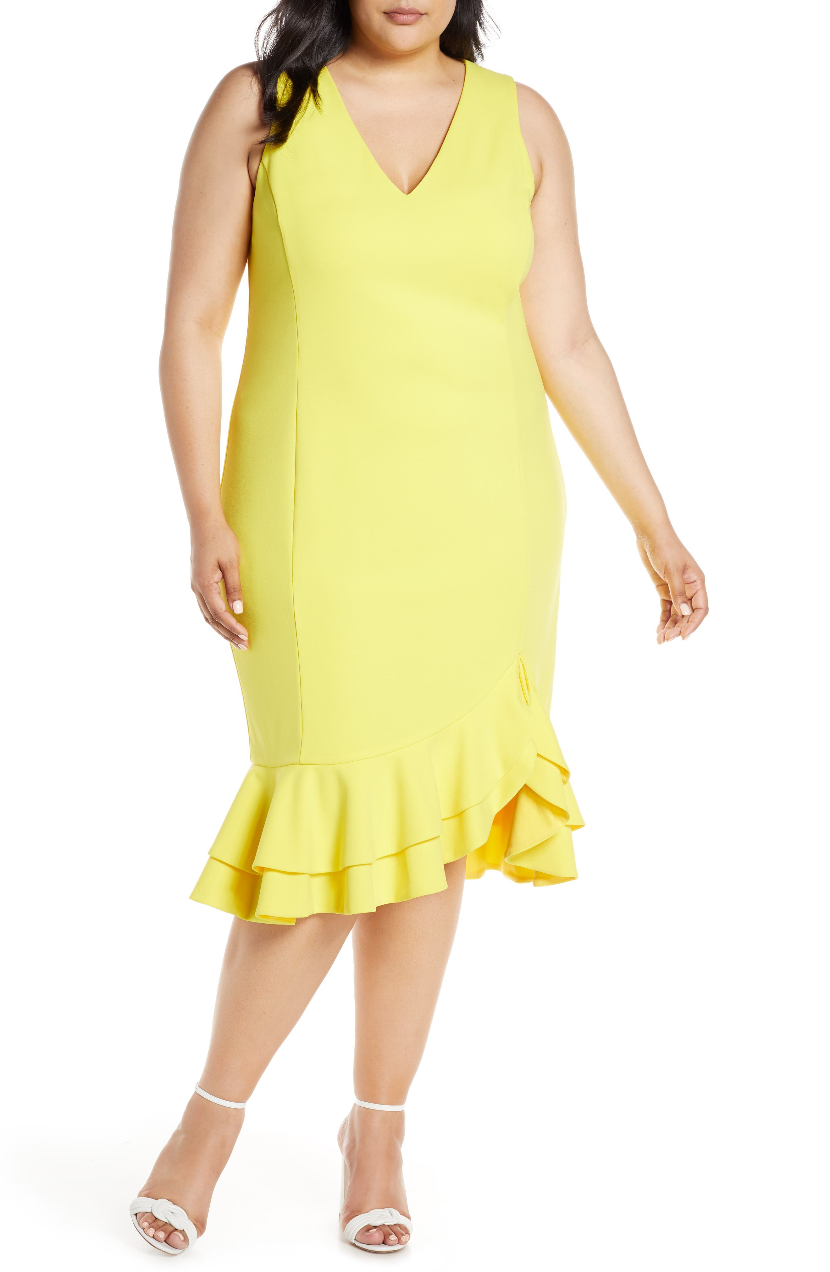 Plus Size Rachel Rachel Roy Elle Sheath Dress, Yellow