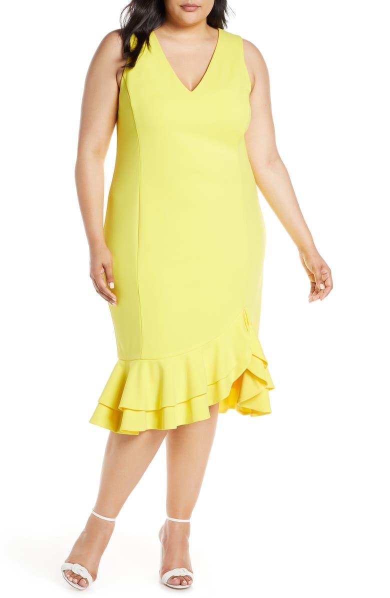 RACHEL RACHEL ROY Elle Sheath Dress, Main, color, SOLAR SUN